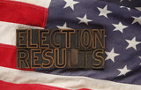 election results words on USA flag