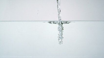 Pouring water into water, Slow Motion