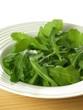 Green leaves of arugula