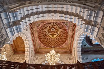 Hassan II Mosque interior vault Casablanca Morocco