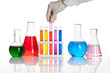 Set of chemical flasks and test tubes