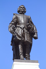 Statue Of Samuel De Champlain in national parc of Quebec City