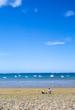 sea pebble beach in Bretagne, France