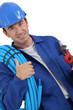 plumber with helmet