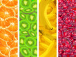 Banners with fruit background