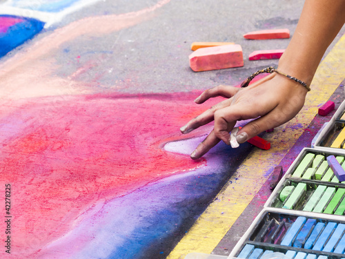 Chalk Drawings - 42278225