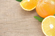 orange slices fruit on white wood