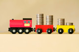 increase your savings earning dividends returns toy train poster