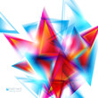 Abstract background with red and blue triangles. Vector