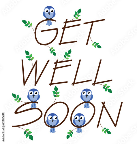 Get well soon twig text