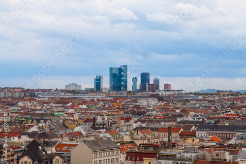 Panorama of the Vienna, Austria.