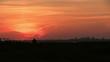 Huge plane lands at dusk