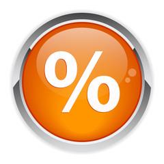 bouton internet pourcentage sign.