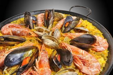 Paella de mariscos.