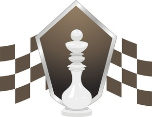 White king. Chess icon