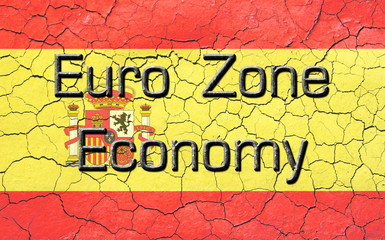 Euro Zone Economy Spanish Flag