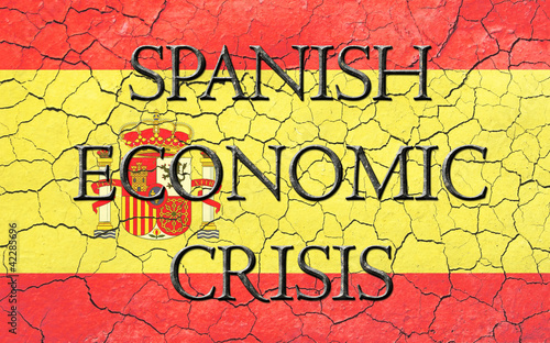 Spanish Economic Crisis Flag