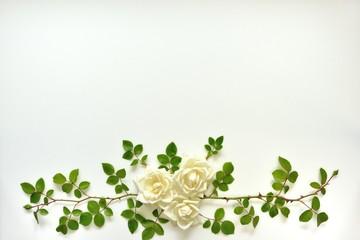 白い薔薇のアート