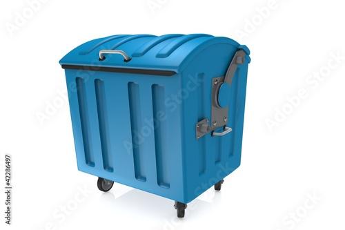 Blau Mülltonne