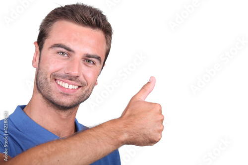 guy with thumbs up