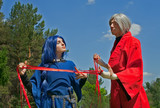 Young woman and man cosplay 1 poster