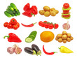 Set of different vegetables.Isolated.