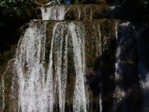 Edessa waterfalls, slow motion, Greece.