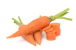 carrots on a white background