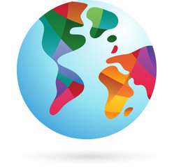 Colorful world, Earth icon