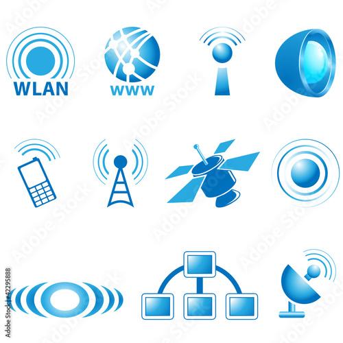 Kommunikation Icons und Logos