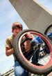 repair bicycle