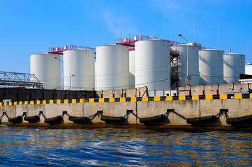 silos in harbour