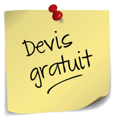 post-it ; devis gratuit