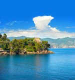 mediterranean landscape with blue sky