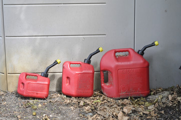 Three gasoline Containers