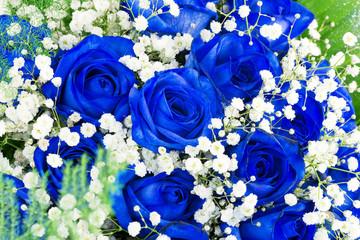 mazzo di rose blu- bouquet