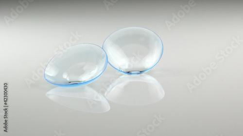 Leinwandbild Motiv Kontaktlinsen