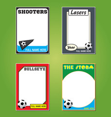 Soccer Trading Card Picture Frames