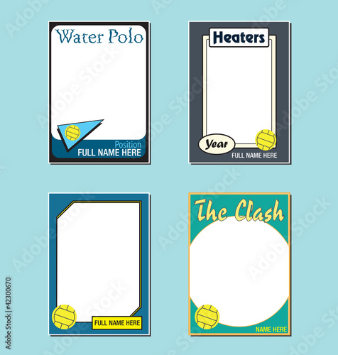 Water Polo Trading Card Picture Frames