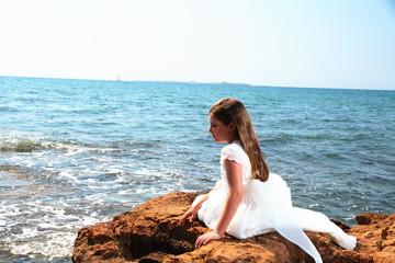 reportaje de Alba en la playa de Santa Pola