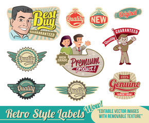 Retro vintage labels