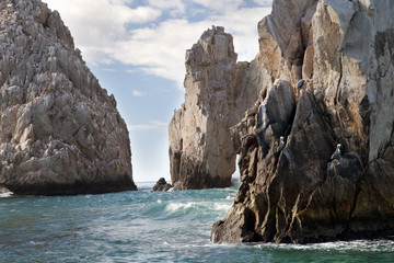 el arco in baja califonia sur, mexico, shot from a boat