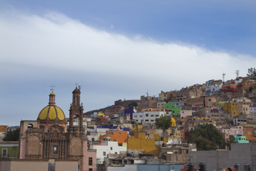 the beautiful skyline of the city of guanajuato, mexico