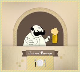 Bartender Serving Beer | Food and Beverages Series