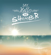 Say Hello to Summer, creative graphic message.