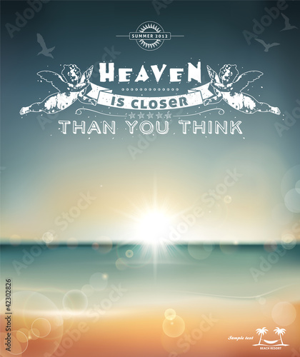 Heaven is closer than you think, creative graphic message
