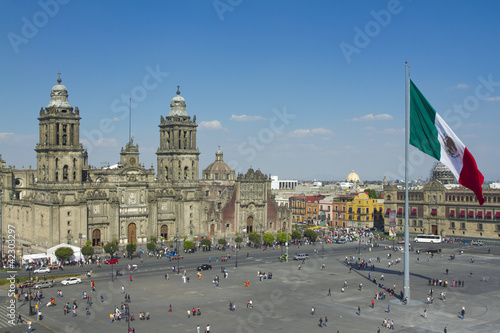 Fotobehang Mexico zocalo in mexico city