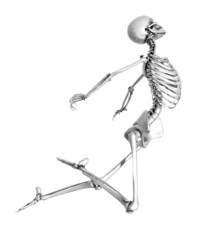 Skeleton Leaping - Pencil Drawing Style
