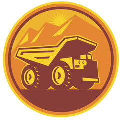 Mining Dump Truck Retro