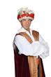 Man in an Arabian sultan costume